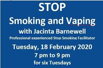 Stop Smoking with Jacinta Barnewell @ La Touche Place, Greystones