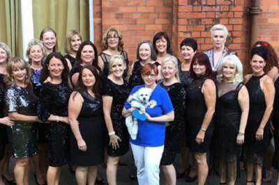GCS Mascot Bonnie @ Sea of Change Choir Concert, in Wicklow Town